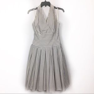 Due per Due vintage halter striped dress NWT